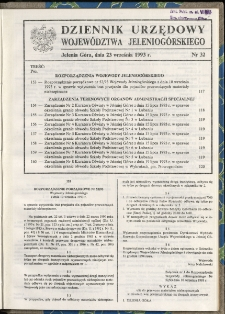 Dziennik Urzędowy Województwa Jeleniogórskiego, 1993, nr 32