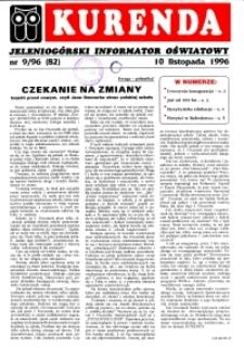 Kurenda : jeleniogórski informator oświatowy, 1996, nr 9 (82)