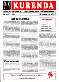 Kurenda : jeleniogórski informator oświatowy, 1997, nr 6 (89)