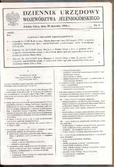 Dziennik Urzędowy Województwa Jeleniogórskiego, 1996, nr 2