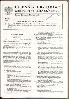 Dziennik Urzędowy Województwa Jeleniogórskiego, 1996, nr 4
