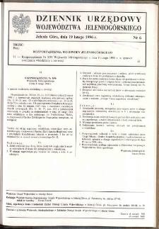 Dziennik Urzędowy Województwa Jeleniogórskiego, 1996, nr 6