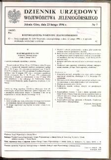 Dziennik Urzędowy Województwa Jeleniogórskiego, 1996, nr 7