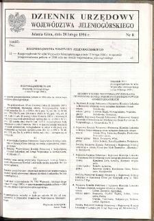 Dziennik Urzędowy Województwa Jeleniogórskiego, 1996, nr 8
