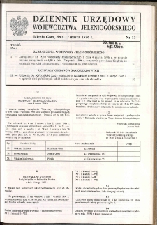 Dziennik Urzędowy Województwa Jeleniogórskiego, 1996, nr 11