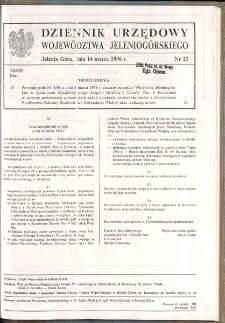 Dziennik Urzędowy Województwa Jeleniogórskiego, 1996, nr 12