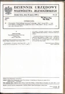 Dziennik Urzędowy Województwa Jeleniogórskiego, 1996, nr 13