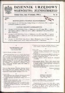 Dziennik Urzędowy Województwa Jeleniogórskiego, 1996, nr 16