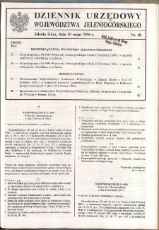 Dziennik Urzędowy Województwa Jeleniogórskiego, 1996, nr 18