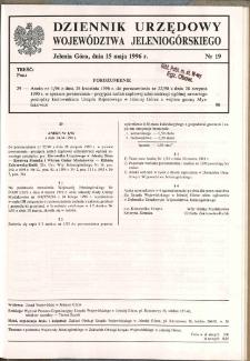 Dziennik Urzędowy Województwa Jeleniogórskiego, 1996, nr 19
