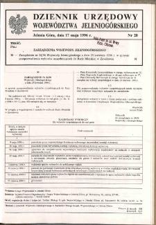 Dziennik Urzędowy Województwa Jeleniogórskiego, 1996, nr 20