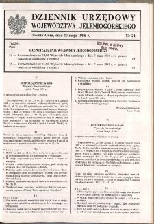 Dziennik Urzędowy Województwa Jeleniogórskiego, 1996, nr 21