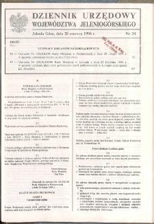 Dziennik Urzędowy Województwa Jeleniogórskiego, 1996, nr 24