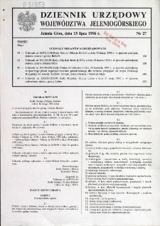 Dziennik Urzędowy Województwa Jeleniogórskiego, 1996, nr 27