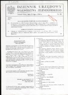 Dziennik Urzędowy Województwa Jeleniogórskiego, 1996, nr 28