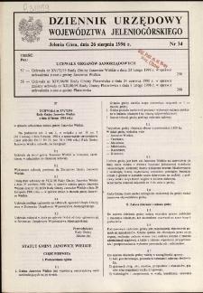 Dziennik Urzędowy Województwa Jeleniogórskiego, 1996, nr 34