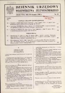 Dziennik Urzędowy Województwa Jeleniogórskiego, 1996, nr 35