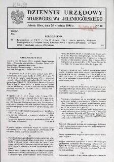 Dziennik Urzędowy Województwa Jeleniogórskiego, 1996, nr 40
