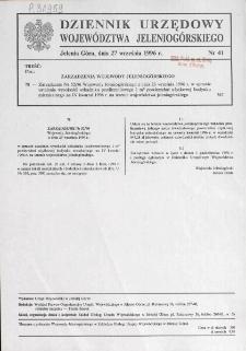 Dziennik Urzędowy Województwa Jeleniogórskiego, 1996, nr 41