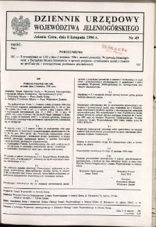 Dziennik Urzędowy Województwa Jeleniogórskiego, 1996, nr 49