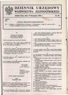 Dziennik Urzędowy Województwa Jeleniogórskiego, 1996, nr 50
