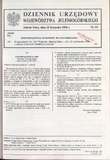 Dziennik Urzędowy Województwa Jeleniogórskiego, 1996, nr 53