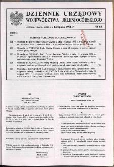Dziennik Urzędowy Województwa Jeleniogórskiego, 1996, nr 55