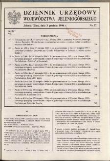 Dziennik Urzędowy Województwa Jeleniogórskiego, 1996, nr 57