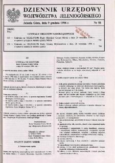 Dziennik Urzędowy Województwa Jeleniogórskiego, 1996, nr 58