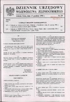 Dziennik Urzędowy Województwa Jeleniogórskiego, 1996, nr 59