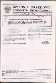 Dziennik Urzędowy Województwa Jeleniogórskiego, 1996, nr 63