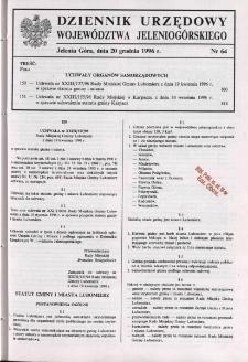 Dziennik Urzędowy Województwa Jeleniogórskiego, 1996, nr 64