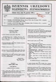 Dziennik Urzędowy Województwa Jeleniogórskiego, 1996, nr 66*