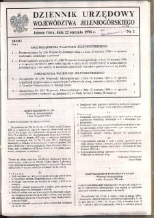 Dziennik Urzędowy Województwa Jeleniogórskiego, 1996, nr 1