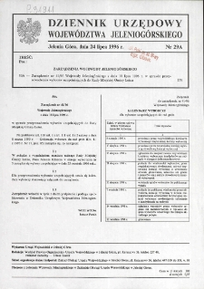 Dziennik Urzędowy Województwa Jeleniogórskiego, 1996, nr 29A