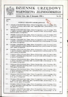 Dziennik Urzędowy Województwa Jeleniogórskiego, 1996, nr 52