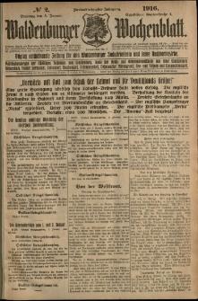 Waldenburger Wochenblatt, Jg. 62, 1916, nr 2
