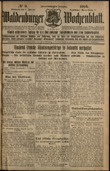 Waldenburger Wochenblatt, Jg. 62, 1916, nr 3