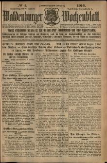 Waldenburger Wochenblatt, Jg. 62, 1916, nr 4