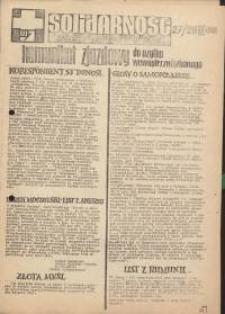 Solidarność Jeleniogórska : komunikat zjazdowy : 27/28.09.1981 r.