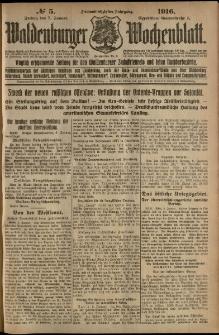 Waldenburger Wochenblatt, Jg. 62, 1916, nr 5