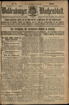 Waldenburger Wochenblatt, Jg. 62, 1916, nr 6