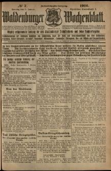 Waldenburger Wochenblatt, Jg. 62, 1916, nr 7