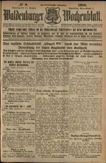 Waldenburger Wochenblatt, Jg. 62, 1916, nr 8