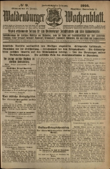 Waldenburger Wochenblatt, Jg. 62, 1916, nr 9