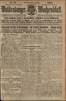 Waldenburger Wochenblatt, Jg. 62, 1916, nr 10