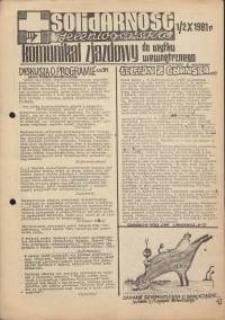 Solidarność Jeleniogórska : komunikat zjazdowy : 1/2.10.1981 r.