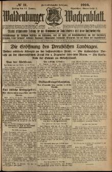 Waldenburger Wochenblatt, Jg. 62, 1916, nr 11