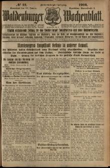 Waldenburger Wochenblatt, Jg. 62, 1916, nr 12