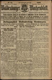 Waldenburger Wochenblatt, Jg. 62, 1916, nr 15